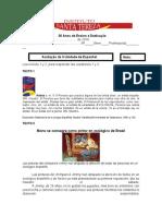 Avaliação da II Unidade de Espanhol
