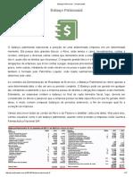 Balanço Patrimonial - Ynvestimentos