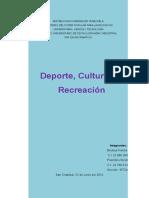 Deporte, Cultura, y Recreacion II