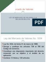Ley de Mercaado de Valores y La Bolsa en Bolivia
