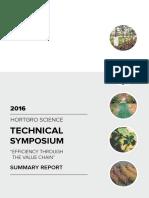 HORTGRO Science symposium 2016 Summary Report