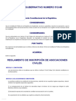 Infile - Acuerdo Gubernativo 512-98