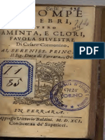 Cremonino, Cesare - Le Pompe Funebri, Ouero Aminta, e Clori 1591