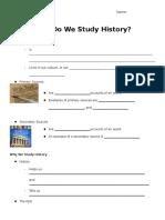 History Intro Notes