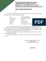 Surat Rekomendasi Guru Ngaji Desa Simpang Sender Selatan