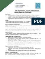 Apuntes Para Organizar Cafe Aspectos Electorales