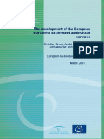 The development of the European market for on demand audiovisual services