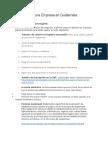 Cómo Crear Una Empresa en Guatemala (GIMNASIO)