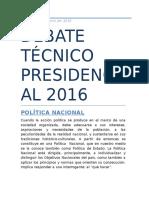 Debate Técnico Presidencial 2016
