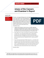 A Brief Summary of the Caesars Entertainment Examiner's Report