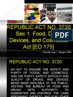 Ra 3720- Safety and Purity of Foods, And Cosmetics