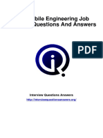 Automobile Engineering Interview Questions Answers Guide