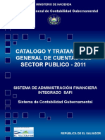 Catalogo y Tratamiento General de Cuentas Del Sector Publico Safi