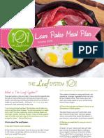Lean Paleo Meal Plan Winter 2016