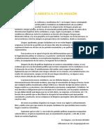 Carta Abierta c's Aragón - Carta abierta Ciudadanos Aragón.