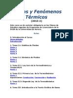 Fluidos y Fenómenos Térmicos lista ejercicios