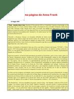 La última página de Ana Frank