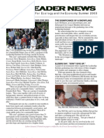 Vanguard Newsletter, Summer 2003 ~ Leadership Institute for Ecology and the Economy
