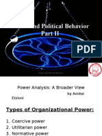 Part II to Part III Power and Political Behavior