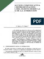 3.c Sainz & Sainz. Teoría de la atribución construccionista