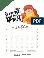 Calendario 2016 Segunda Parte Para Imprimir