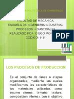 Los Procesos de Produccion Presentar