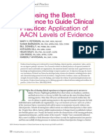 Choosing the Best Evidence to Guide Clinical Practice