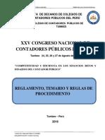 Reglamento XXV CNCP - Tumbes 2016