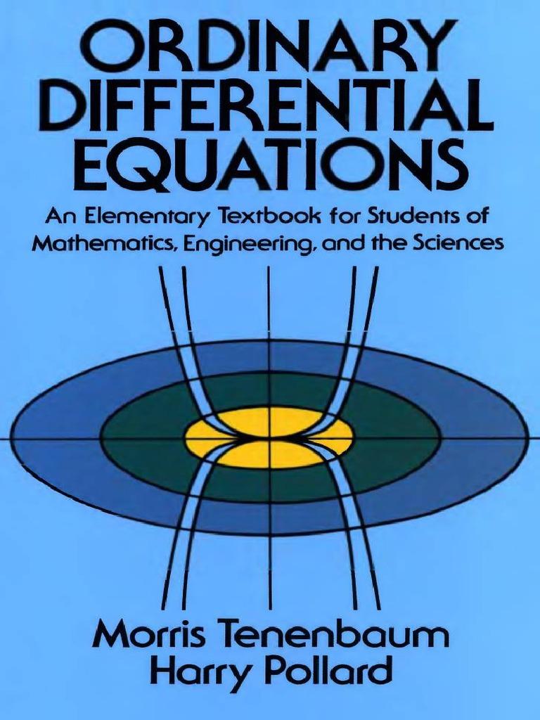 morris tenenbaum harry pollard ordinary differential equations copy pdf rh scribd com ordinary differential equations tenenbaum solutions manual Ordinary Differential Equations Tutorial