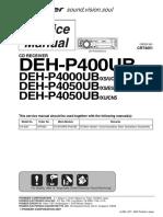 Pioneer Deh-p400ub p4000ub p4050ub