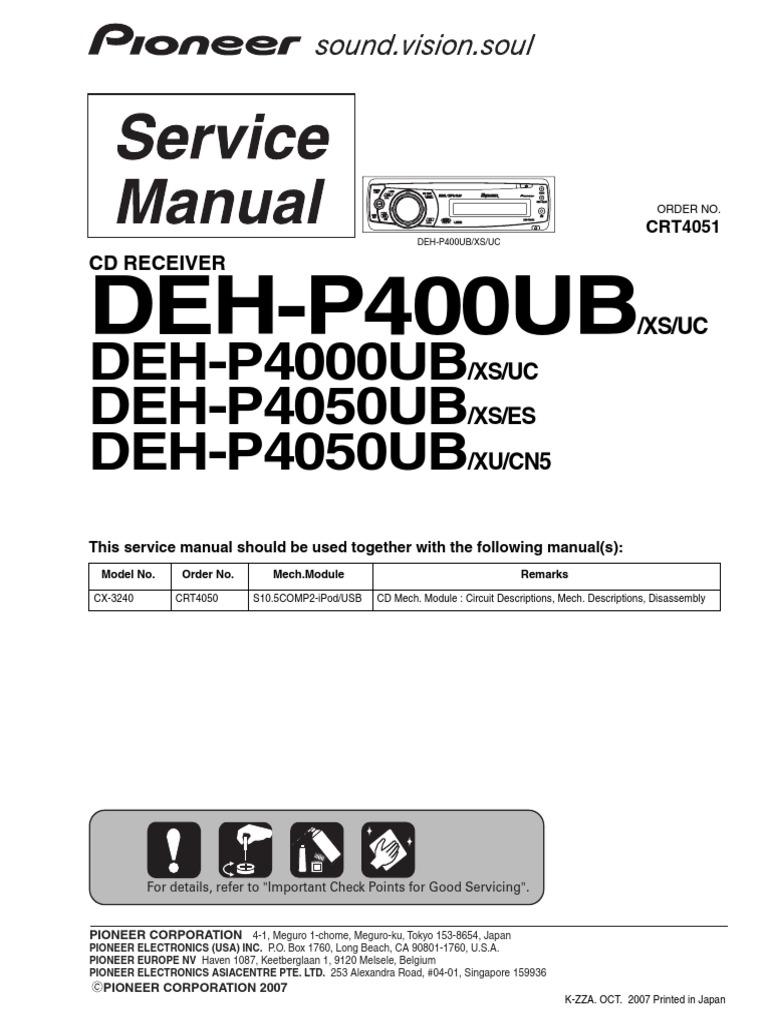 Pioneer Deh 1600 Wiring Diagram