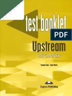 Upstream Beginner Test Booklet