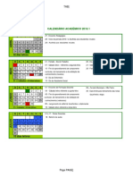 Calendário academico Camocim