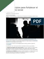 Diez Principios Para Fortalecer El Periodismo Social