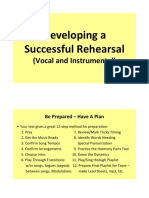 Developing a Successful Rehearsal - Lesson Notes