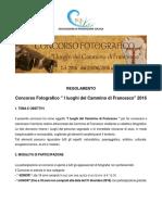 regolamento concorso fotografico 2016