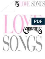 The Carpenters - Love Songs Book