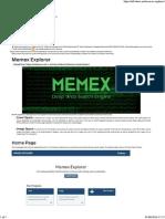 Memex Explorer
