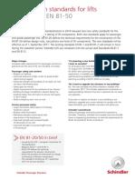 Factsheet Elevator Norms En81 20 En81 50