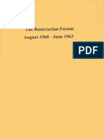 Rosicrucian Forum, August 1960 - June 1963
