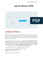 Lenguaje de Marcas HTML