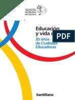 Educacion y Vida Urbana 20 Años Ciudades Educadoras
