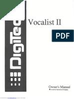 Digitech Vocalist II Manual