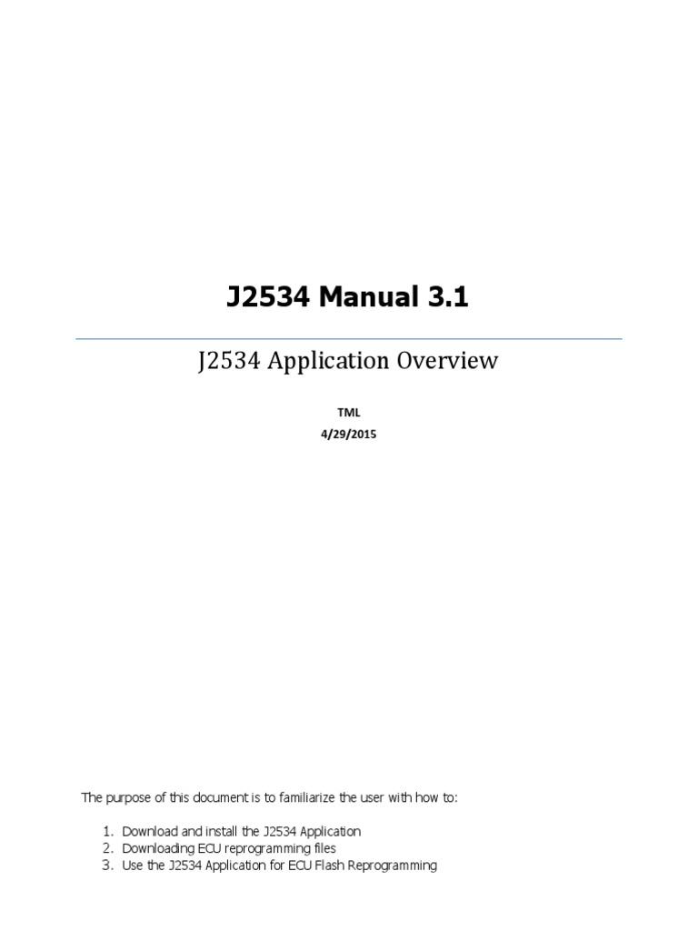 Chrysler Ecus Reflashing Using a J2534 -Manual | Adobe Flash | Icon