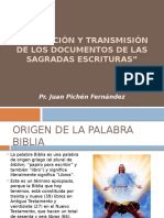 Formacion y Transmision de Los Documentos de Las Sagradas Escrituras