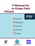 HACCP Manual for Grape Packing Jan-2019