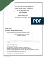 B. Statistic Paper2 2010