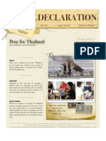 May 2010. Pray for Thailand. Unrest, Unknowns and Understanding