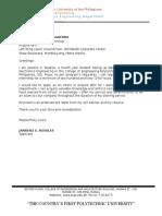 ApplicationletterSample