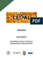 Eje 5 - Sexualidad y Género, Violencia, Desigualdad y Cohesión Social